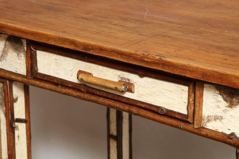 20th Century American Birch Wood Writing Table For Sale