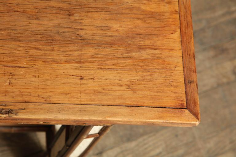 American Birch Wood Writing Table For Sale 1