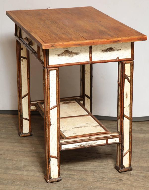 American Birch Wood Writing Table For Sale 2