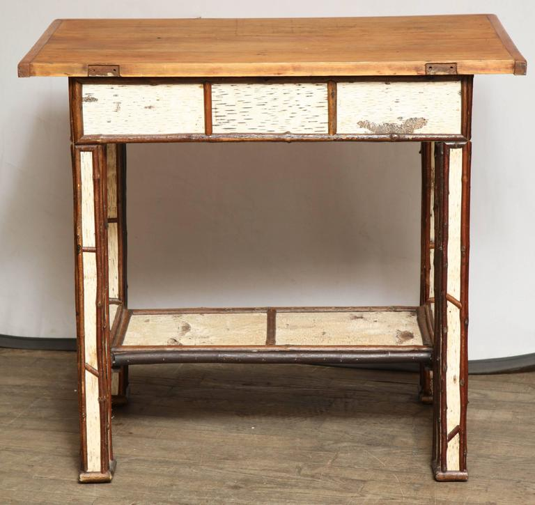 American Birch Wood Writing Table For Sale 4