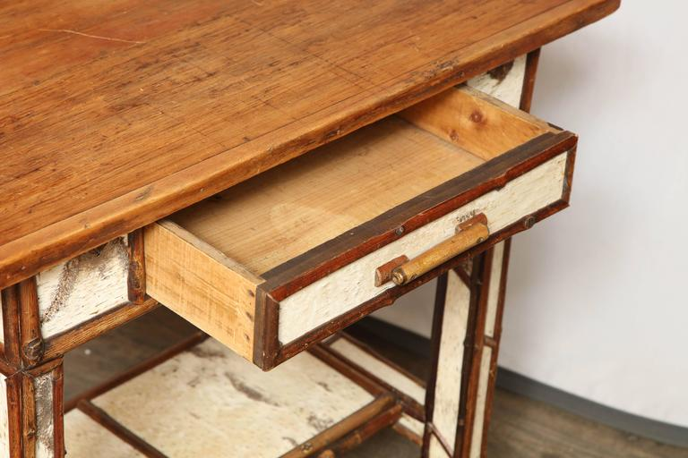 American Birch Wood Writing Table For Sale 5
