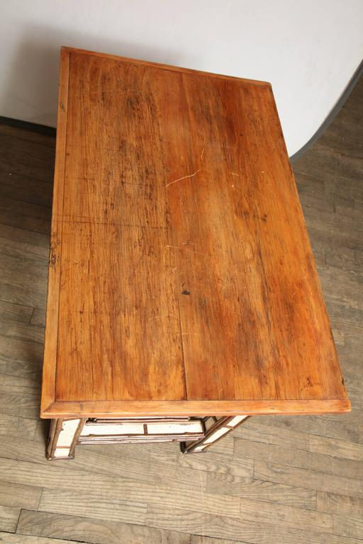 American Birch Wood Writing Table For Sale 6