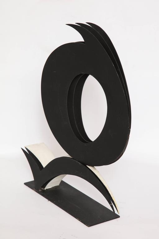 American Abstract Sculpture Steel Signed Harriet Feigenbaum 1960s Title Void For Sale