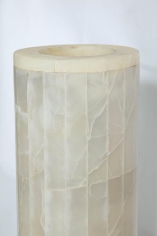 Mid-20th Century Italian Futurist Monumental Torchère Floor Lamp Marble, Italy, 1950s For Sale