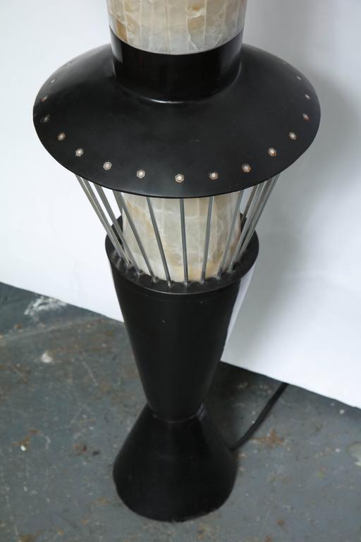 Italian Futurist Monumental Torchère Floor Lamp Marble, Italy, 1950s For Sale 2