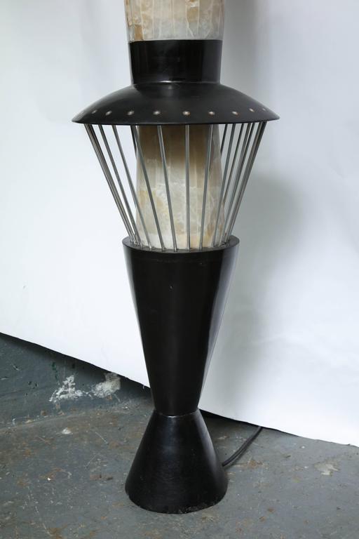 Italian Futurist Monumental Torchère Floor Lamp Marble, Italy, 1950s For Sale 3