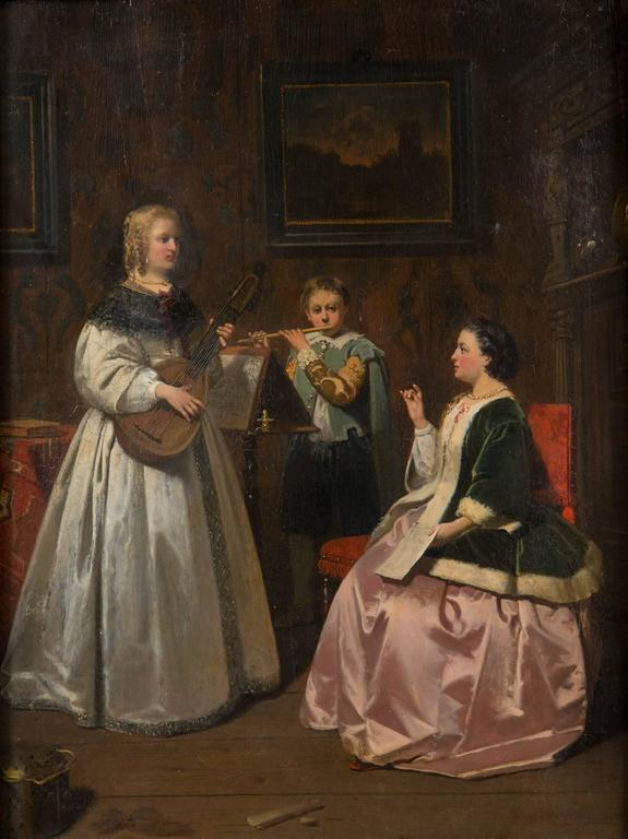 Antique Dutch Painting In Good Condition For Sale In Stamford, CT