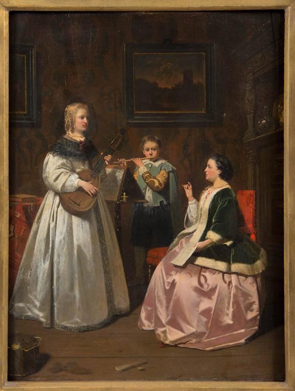 Antique Dutch Painting For Sale 1