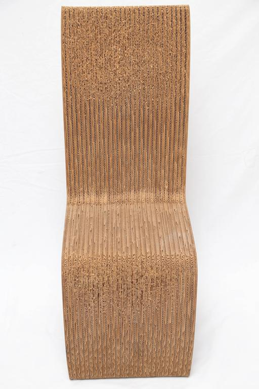 pair of frank gehry cardboard chairs usa 1970s at 1stdibs