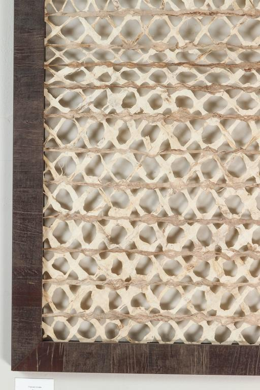 Framed Mexican Amate Bark Paper In Excellent Condition For Sale In Los Angeles, CA
