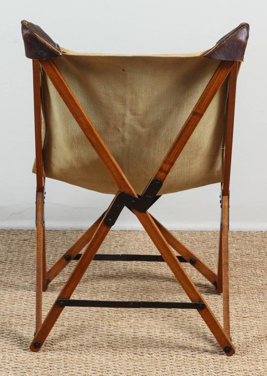 Vintage Campaign Chair In Good Condition For Sale In Los Angeles, CA
