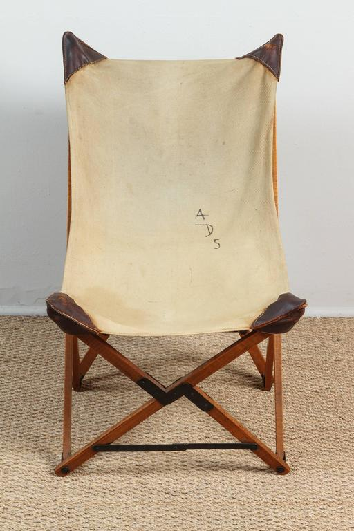 20th Century Vintage Campaign Chair For Sale