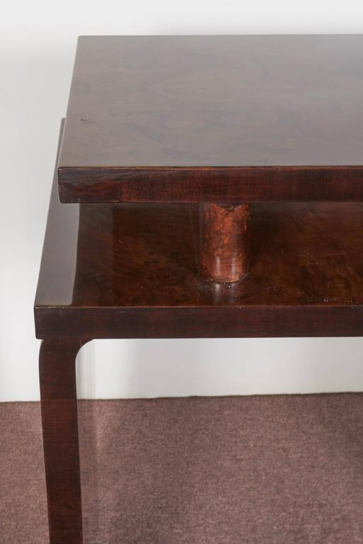 French Art Deco Burl Walnut Occasional or Side Table For Sale 5