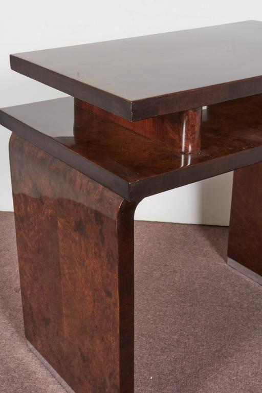 French Art Deco Burl Walnut Occasional or Side Table For Sale 4