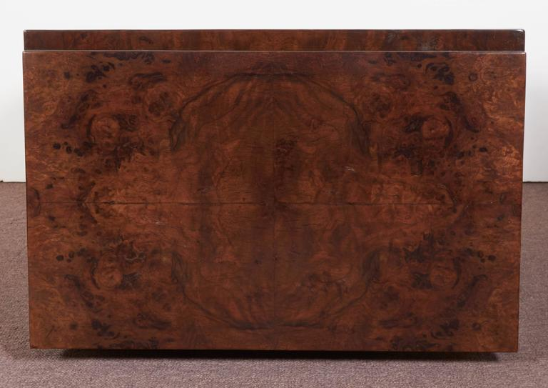 French Art Deco Burl Walnut Occasional or Side Table For Sale 3