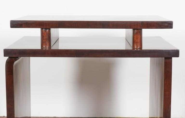 French Art Deco Burl Walnut Occasional or Side Table For Sale 6