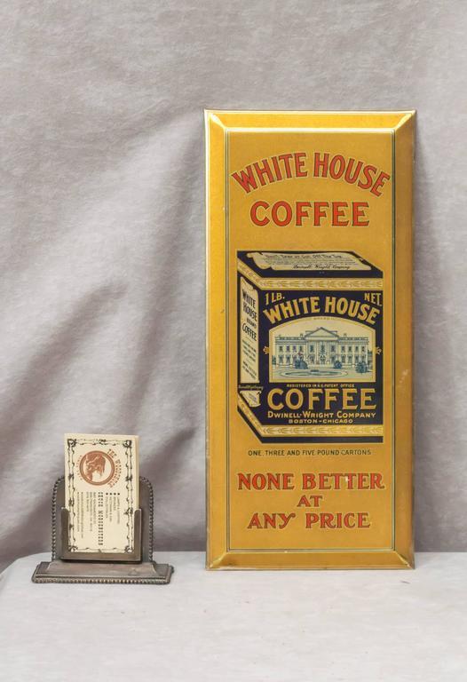 """Tin Sign """"White House Coffee"""" 2"""