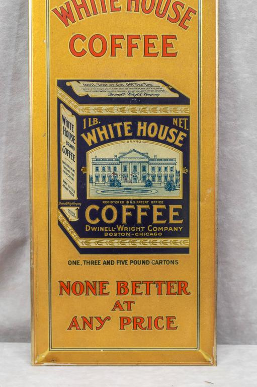 """American Tin Sign """"White House Coffee"""" For Sale"""