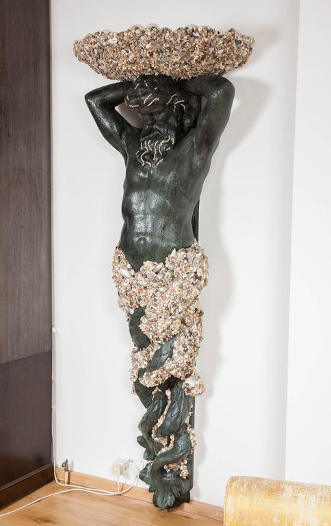 'Fountain of Neptune' Wall Sculpture by Anthony Redmile For Sale 1