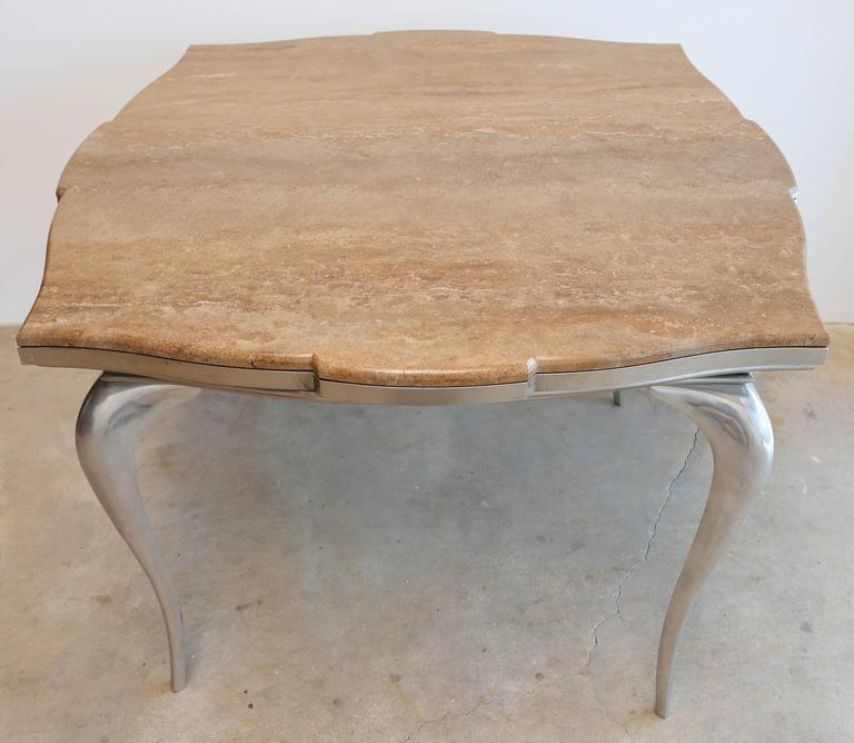 Mark Brazier Jones Mid-Century Unique Signed Central Table Steel and Marble For Sale 2
