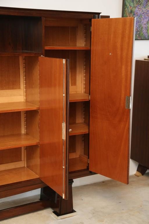 French Art Deco Cabinet in Rosewood Palissander  Attributed to Maxime Oldf For Sale 2