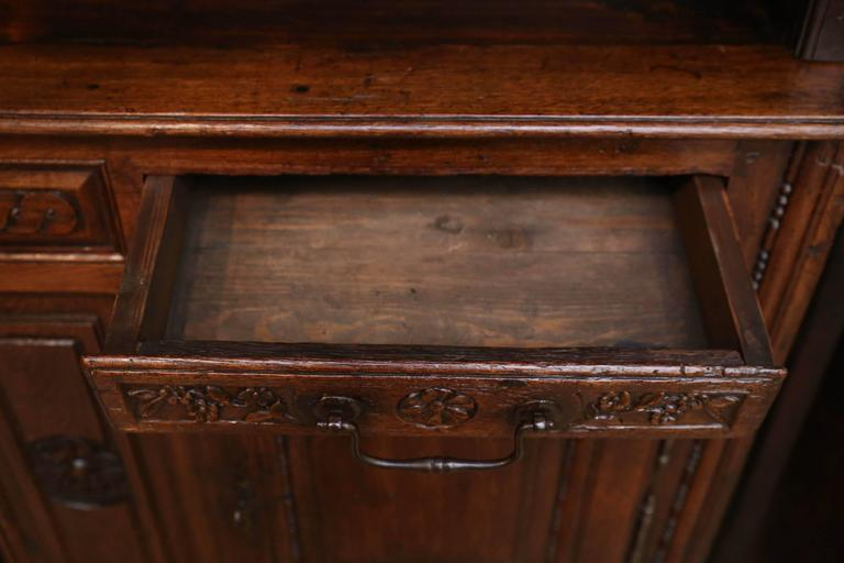 French Vassilier Cupboard In Oak With Iron Drawer Pulls