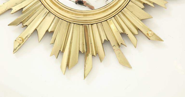 Unusual Bronze Sunburst Mirror 2