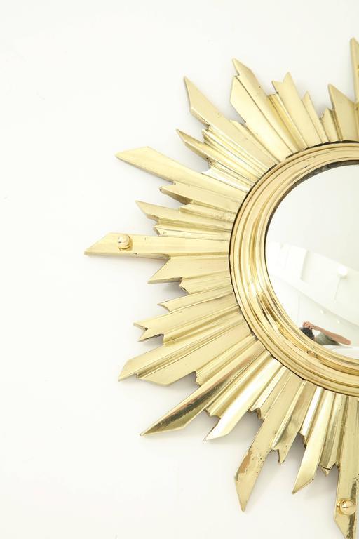 Unusual Bronze Sunburst Mirror 3