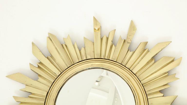 Unusual Bronze Sunburst Mirror 4