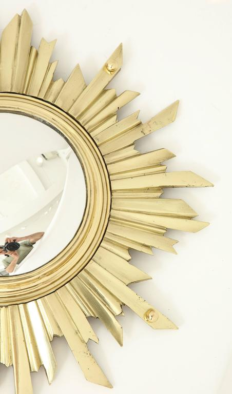 Unusual Bronze Sunburst Mirror 5