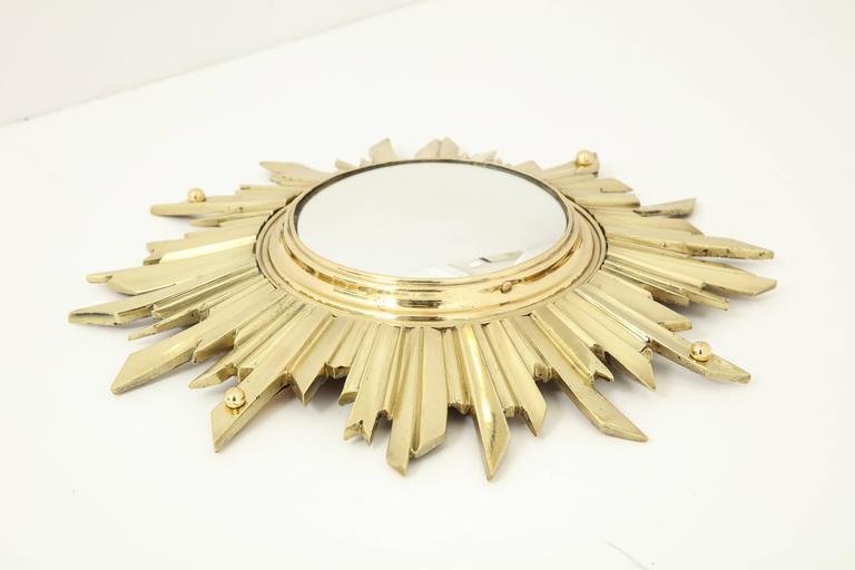 Unusual Bronze Sunburst Mirror 6