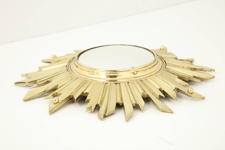 Unusual Bronze Sunburst Mirror 7