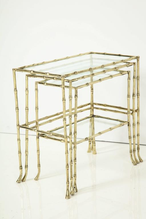 Set of Three Faux Bamboo Nesting Tables 6