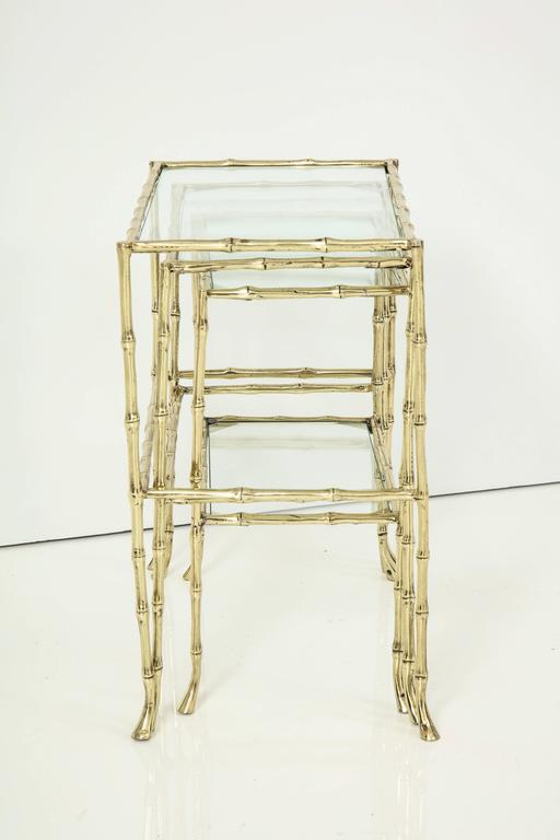 Set of Three Faux Bamboo Nesting Tables 7