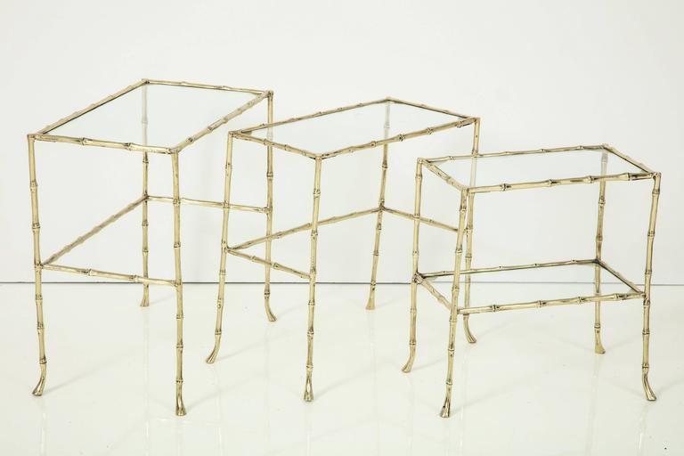 Set of Three Faux Bamboo Nesting Tables 9