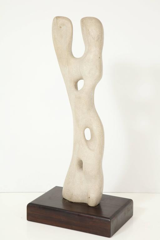 Hand-Carved Abstract Sculpture in the Manner of Jean Arp For Sale