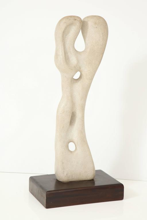 Limestone Abstract Sculpture in the Manner of Jean Arp For Sale