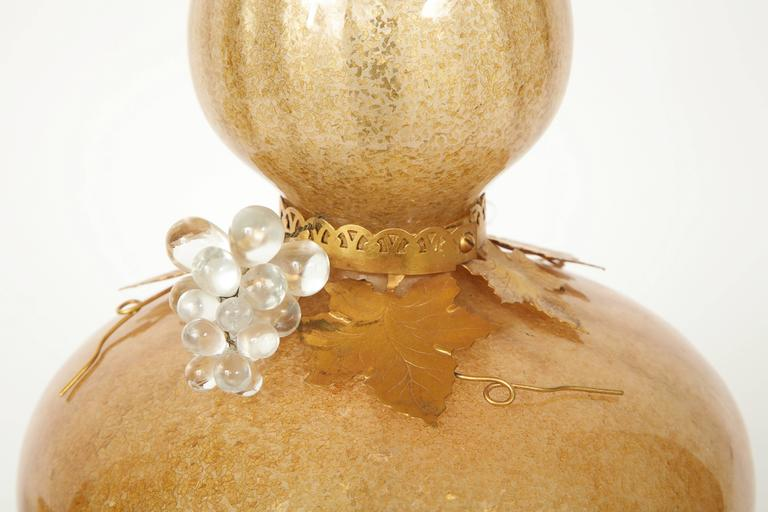 Marbro Gold Murano Glass Lamps 7