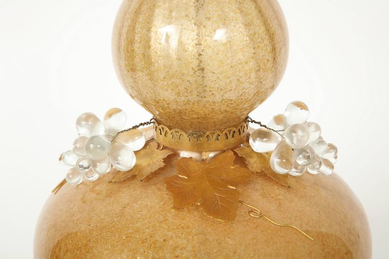 Marbro Gold Murano Glass Lamps For Sale 2