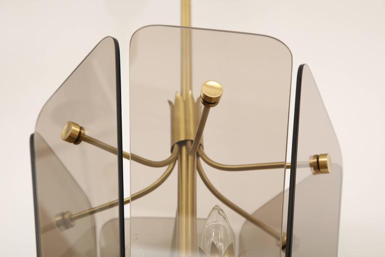 Fontana Arte Style Smoked Glass Pendant 6