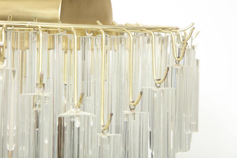 Italian Venini Crystal Prism Floor Lamp For Sale
