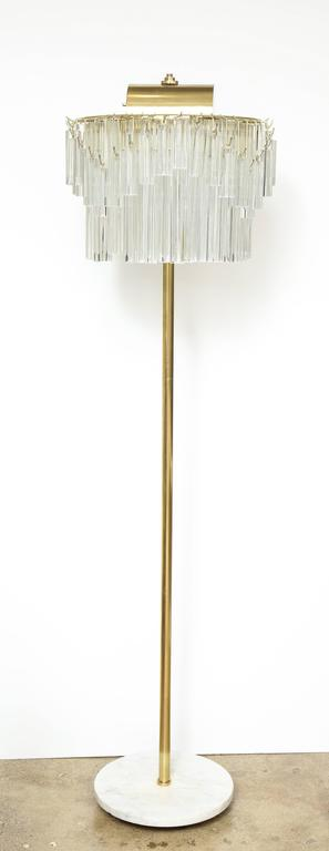 Venini Crystal Prism Floor Lamp In Excellent Condition For Sale In New York, NY