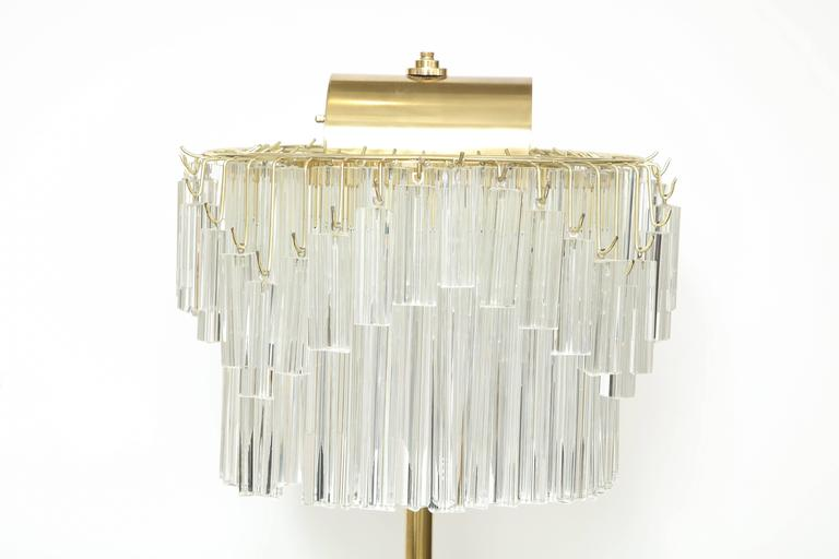 20th Century Venini Crystal Prism Floor Lamp For Sale