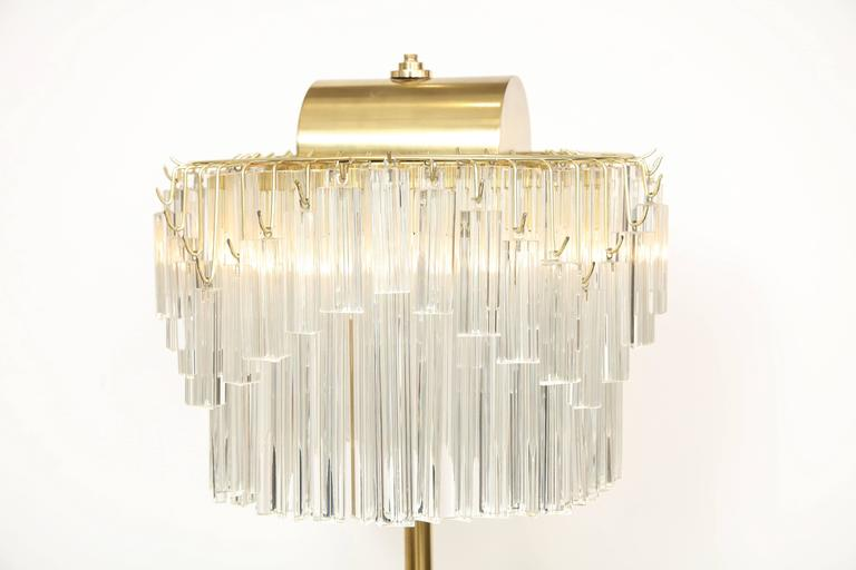 Venini Crystal Prism Floor Lamp For Sale 2