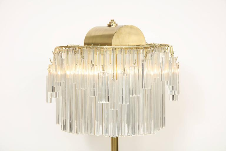 Venini Crystal Prism Floor Lamp For Sale 3