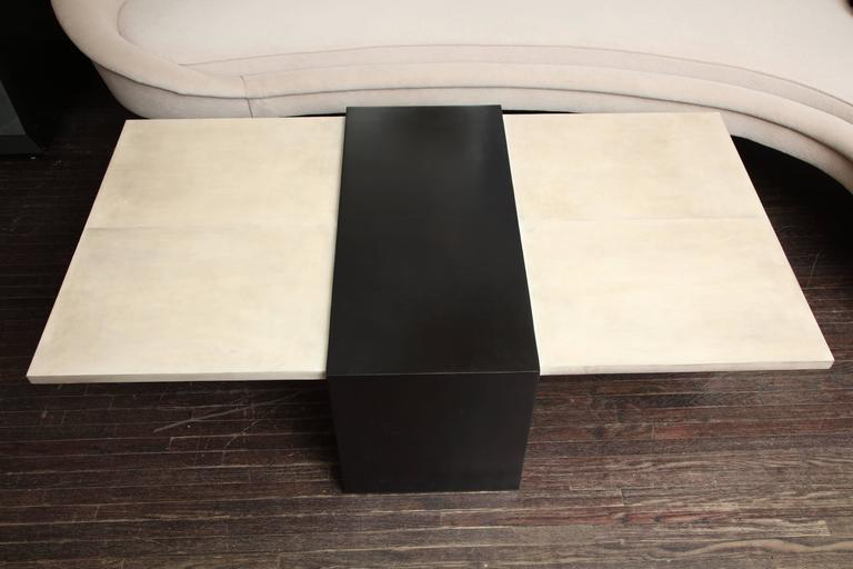 Philippine Custom Goatskin Two-Tone Cocktail Table For Sale