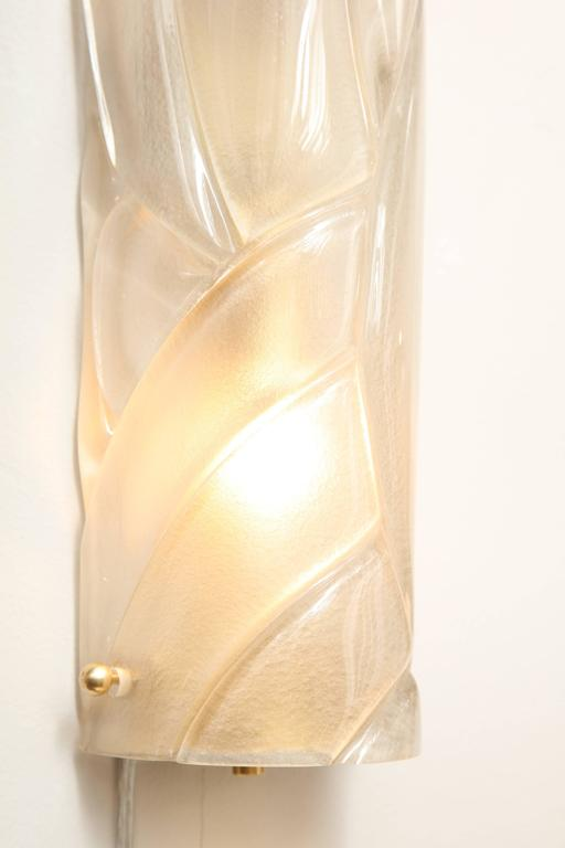 20th Century Murano Glass Tubular Sconces Six Available For Sale