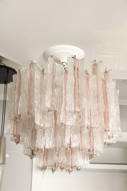 Vintage Amethyst and Clear Murano Glass Chandelier by Toni Zuccheri for Venini 5