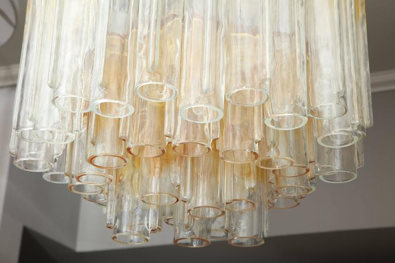 Vintage Amber and Clear Mazzega Chandelier 4