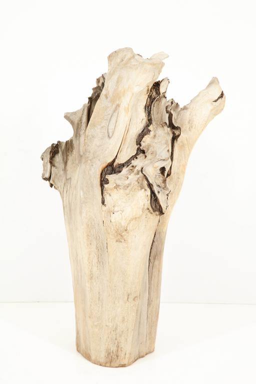 Hand-Crafted Sculpture, Wood, Cypress For Sale